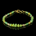 Bracelet with Roman green and yellow glass beads