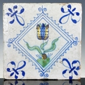 Dutch Delft polychrome tile, tulip