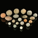 Roman pottery sling shots or sling bullets, 20 pcs