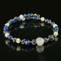 Bracelet with Roman blue and white glass beads