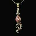 Pendant with Roman purple glass and stone beads