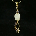 Pendant with Roman purple glass and agate beads