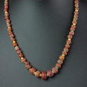 Necklace with Roman red and green glass beads