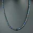 Necklace with Roman blue and turquoise glass beads