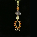 Pendant with Roman purple, semi-translucent and orange glass
