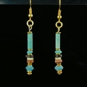 Earrings with Egyptian faience and glass beads