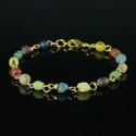 Bracelet with Roman multicolour glass beads