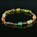 Bracelet with Roman multicolour glass and coral beads