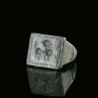Iron Age, Celtic bronze ring with stylised horse