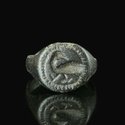 Medieval bronze seal ring