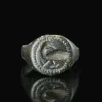 Medieval bronze seal ring