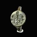 Late Medieval to Renaissance bronze Armorial seal ring