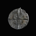 Medieval pewter coin badge, Botdrager