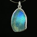 Silver pendant with Roman glass