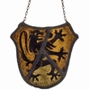 Flemish stained glass fragment with lion rampant