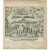 Antique historical print 'Siege Spanish Garrison Gent 1576'