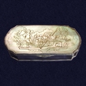 Dutch silver and mother of pearl tobacco box