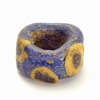 Celtic glass bead 'Evil Eye' charm