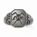 Berlin iron masonic signet ring, Patriotic 'Iron for Gold'