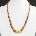 Necklace with Egyptian and Roman glass and stone beads