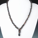 Necklace with Roman aubergine glass beads
