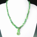 Necklace with Roman green glass beads