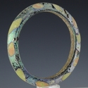 Bracelet, multicoloured Roman solid glass bracelet