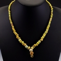 Necklace with yellow Roman glass beads