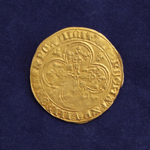"""Gouden Schild"", struck under Philip the Good as regent (1425-1428), Holland"