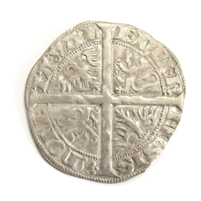 Hainaut, Double groat, stuck under William the Mad (1356-1389)