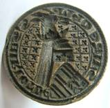 Medieval circular heraldic seal