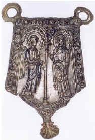 Medieval pewter pilgrim badge from Santiago de Compostella (scallop)