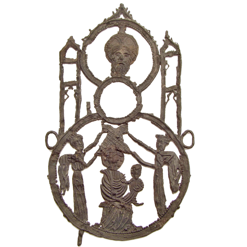 Aachen mirror badge, 1400-1450, pewter