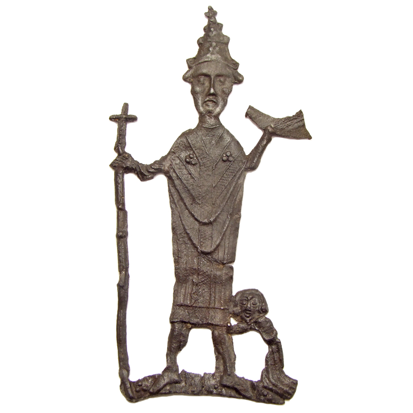 Pewter pilgrim badge 'Cornelius of Ninove', 1450-1500