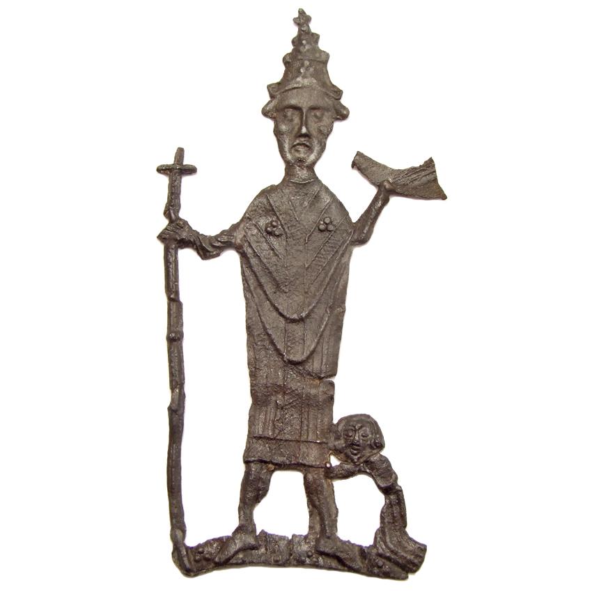 Pewter pilgrim badge 'Cornelius of Ninove', 1450-1500