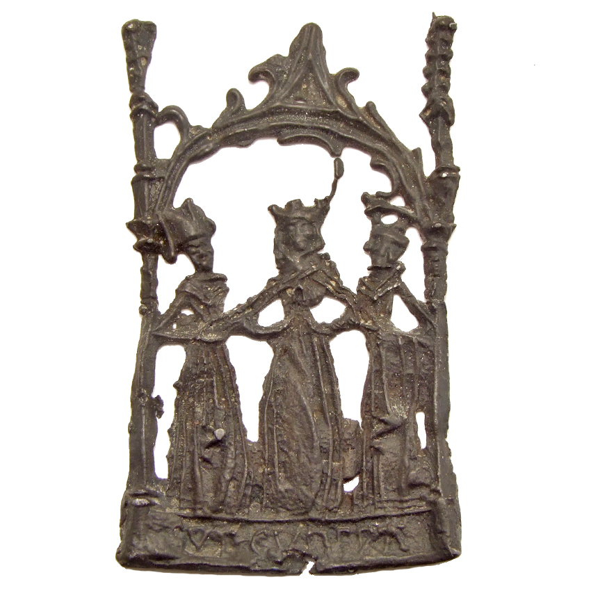 Pewter pilgrim badge 'Cunera of Rhenen', 1450-1500