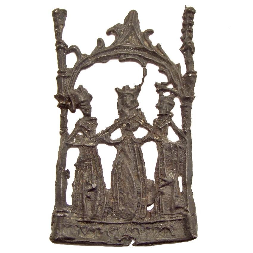 Pewter pilgrim badge 'Cunera of Rhenen', 1450-1500