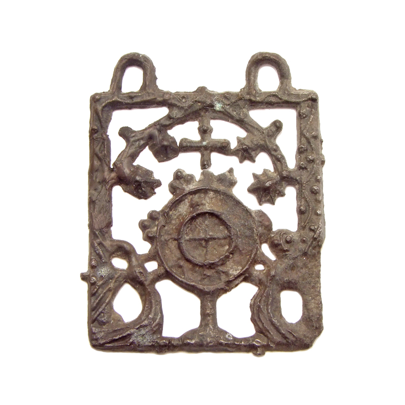 Pewter pilgrim badge 'Miracle Eucharist of Amsterdam', 1375-1425