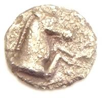 Ancient Greece, Aeolis, Kyme, AR Tetartemorion