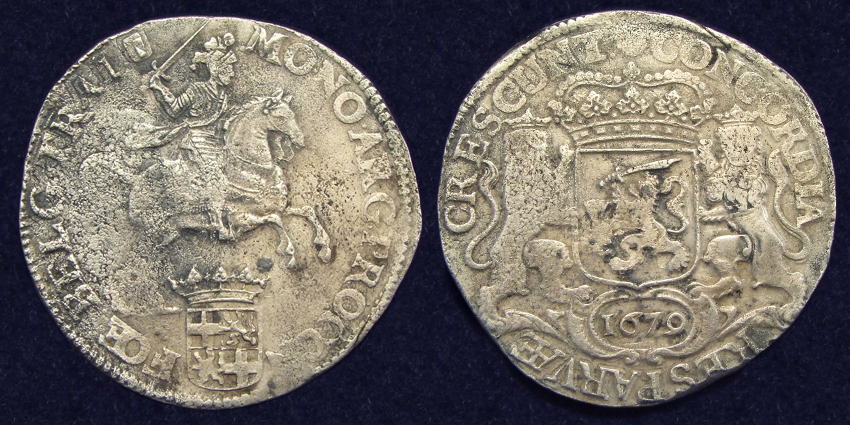 Utrecht, Ducat 1679, recovered from 't Vliegend Hert