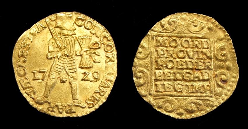 Gold Ducat 1729, retrieved from 't Vliegend Hert