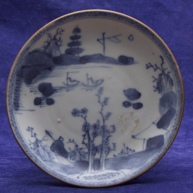 Porcelain blue and white saucer from the 'Ca Mau' shipwreck