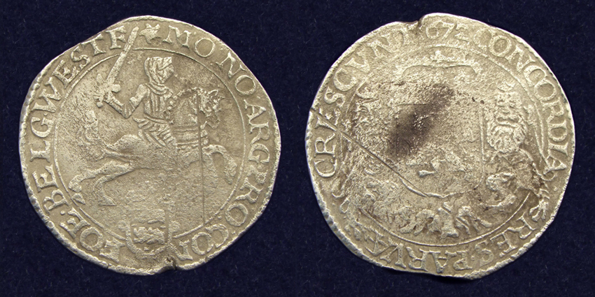 West-Friesland, ducaton 1672, recovered from 'de Liefde'