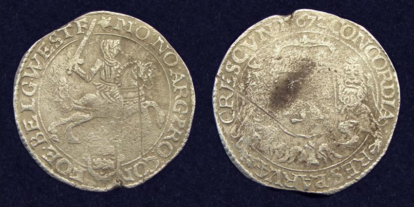 West-Friesland, ducaton 1672, recovered from 'de Liefde'